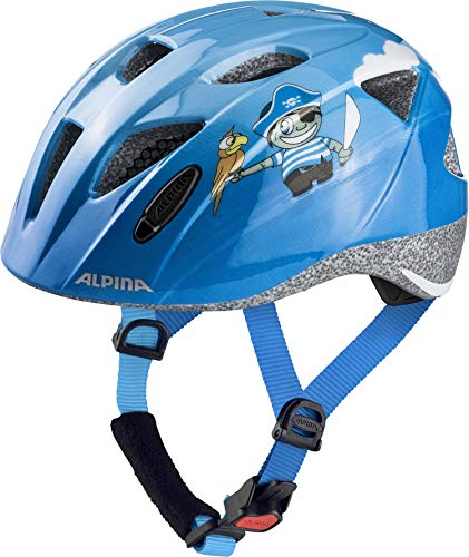 ALPINA Unisex - Kinder, XIMO Fahrradhelm, pirate gloss, 49-54 cm