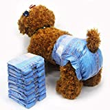 Pet Soft Lot de 3 sacs de 24 couches jetables en jean super absorbantes pour animal domestique Style cowboy
