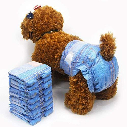 Pet Soft Pañales Desechables para Mascotas Pañales Suaves Superabsorbentes para Perros Hembra Estilo de Vaquero Pañales para Perros Pequeños 3 Bolsas 24 Unidades XS