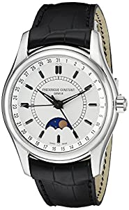 Frederique Constant Men's FC-330S6B6 Index Black Leather Strap Watch Check Prices and Buy NOW!!! and review image
