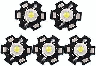 Led World 50 PCS 3W White High Power LED Diodes Light Emitter 6000-6500K with 20mm Star Base