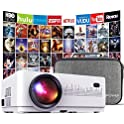 DBPOWER L21 6000-Lumens LCD Mini Movie Projector with Case