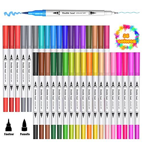 VOOKI -  36 Farben Filzstifte
