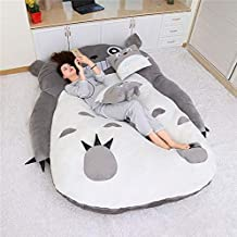 Tatami Mattress Cartoon Totoro Sleeping Bag Leisure and Comfort Sofa Twin Bed for Kids Warm Lovely Creative Tatami Beanbag...
