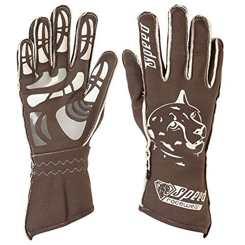 Speed Racewear Motorsport Handschuhe - Karthandschuhe Melbourne - Grau/weiß (9)