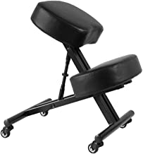 Sleekform Atlanta Adjustable Chair   Ergonomic Posture Corrective Chair, Knee Stool for Bad Back, Support, Neck Pain Relief, Computer Desk   Ergo Orthopedic Comfortable Faux Leather Cushions