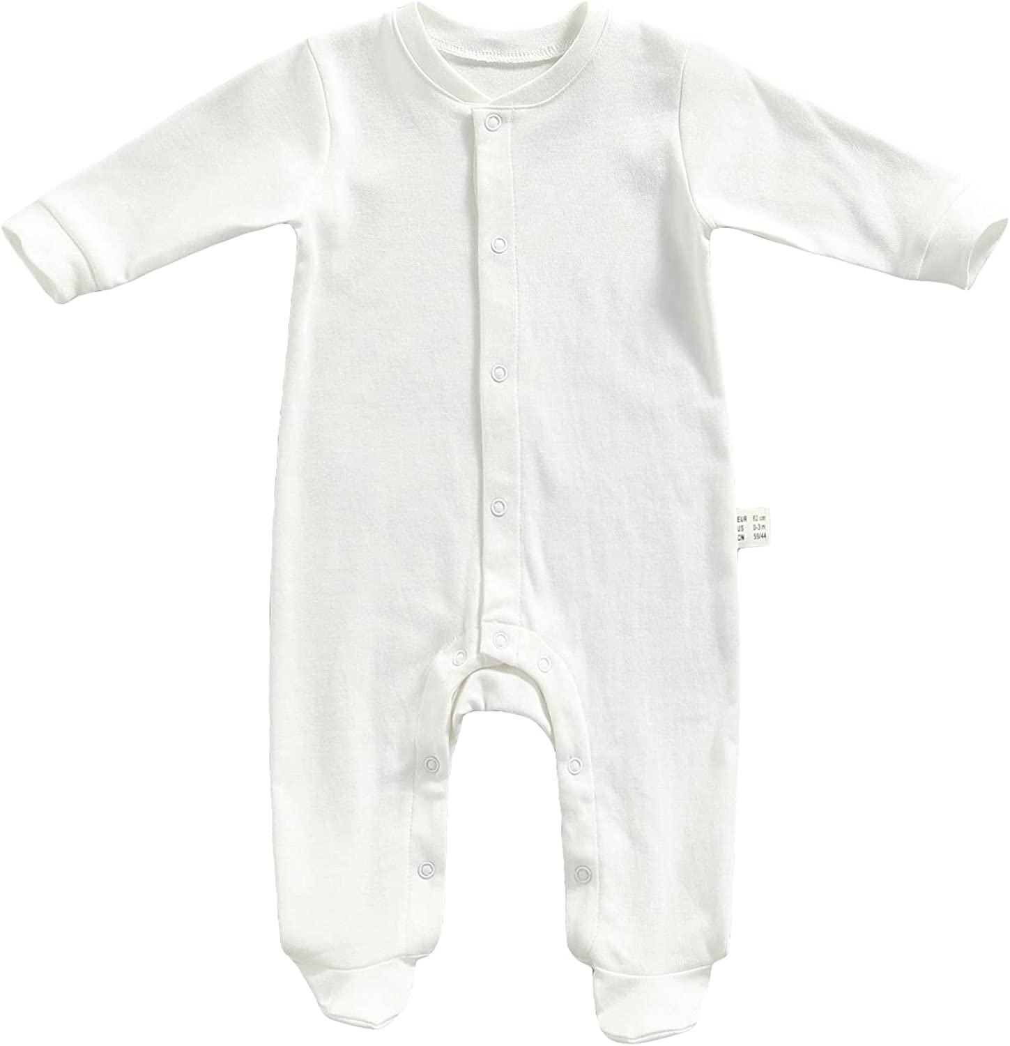 TINXIEA Newborn Infant Very popular Baby Boys Organic Girls Lo Cotton Recommended Footies