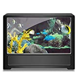 Aquarium Background Fish Tank Coral Decorations Pictures 3D Effect PVC Adhesive Poster Underwater World Backdrop Sticker PVC Adhesive Decor Paper Cling Decals Poster