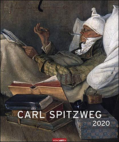 Carl Spitzweg Edition. Wandkalender 2020. Monatskalendarium. Spiralbindung. Format 46 x 55 cm