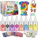 Emooqi Tie Dye Kit, Textiles de Tela 8 Piezas Colores Vibrantes Adecuado para Arte de Bricolaje Tie-Dye para Niños y Adultos (8 Colores)