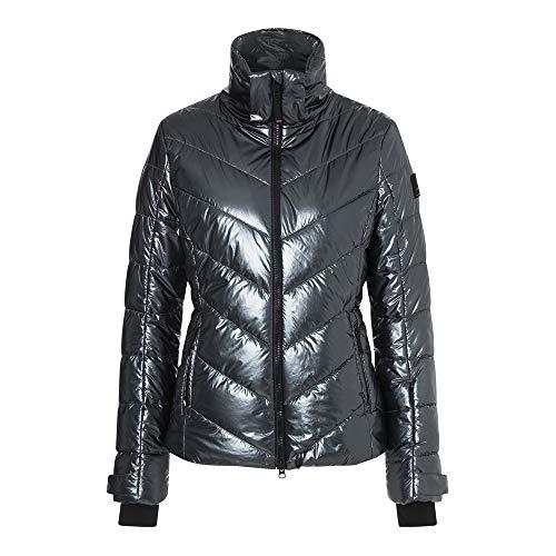 Bogner Fire + Ice Ladies Sassy2 Metallic Grau, Damen Daunen Daunenjacke, Größe 46 - Farbe Wolf