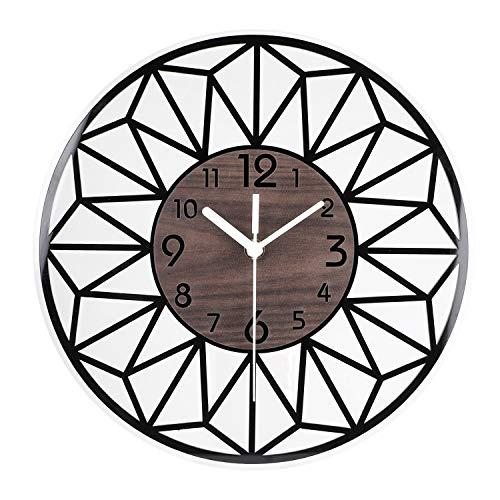 ENCOFT Vintage Francese Adesivo Orologio da Parete in Legno per la casa Soggiorno Cucina Camera da Letto