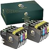 EMBRIIO LC-3213 8X Cartuchos de Tinta Reemplazo para Brother DCP-J572DW DCP-J772DW DCP-J774DW MFC-J491DW MFC-J497DW MFC-J890DW MFC-J895DW