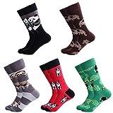 Ambielly Herren Lustig Socken Bunt Baumwolle Neuheit Crew Socken Männer Gemustert Funky Mode Beiläufig Kleid Socken