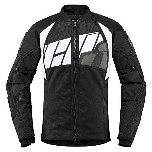 Icon Automag2 Damen Motorrad Jacke grau schwarz Gr��e: 2XL