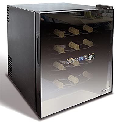 Husky HUS-HN5 16 Bottle Reflections Drinks Cooler, Black
