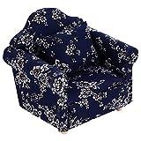 TOYANDONA 1 Uds Sofá de Casa de Muñecas 1:12 Sillón de Sofá en Miniatura de Madera con Almohada Accesorios de Decoración de Muebles de Casa de Muñecas