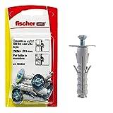 Fischer 6 Tasselli SB 9 con Vite T.S.C. Taglio Combinato, Universali per il Fissaggio di Lampade, Specchi, Mobili su Muro e Cemento, 504444