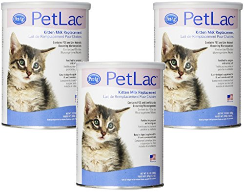 PetLac Milk Powder for Kittens, 10.5-Ounce Each (3 Pack)