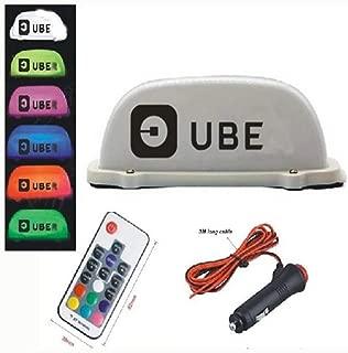 PanDaDa Remote Control 7 Color LED Car Taxi Cab Roof Top Sign Light Lamp Magnetic Top Light Taxi Light USB Plug Line Sign Light