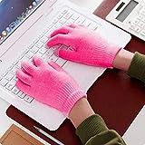 Guantes de Punto Unisex de Invierno cálido para teléfonos Inteligentes con Pantalla táctil-a833