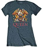 Photo de Queen 'Classic Crest' (Grey) Womens Fitted T-Shirt (Large)