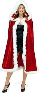 Uteruik - Capa de Navidad con capucha diseño de Papá Noel color rojo 1 m