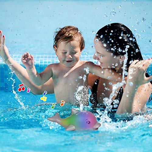 water spraying dolphin bathtub toy