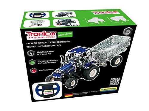 TRONICO Metallbaukasten RC Traktor New Holland T5 Konstruktionsspielzeug - Mint - STEM - Modellbau - Bauen mit Werkzeug