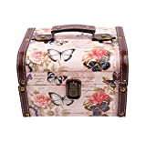 WaaHome Butterfly Wooden Treasure Boxes Decorative Jewelry Keepsakes Box for Kids Girls Wo...