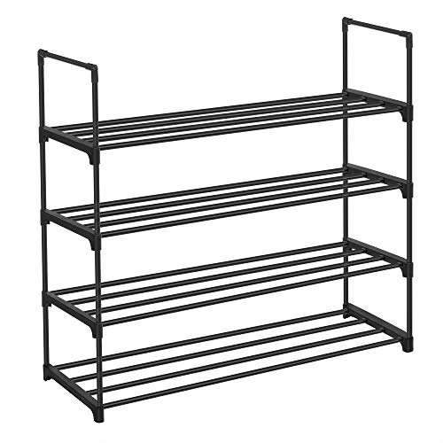SONGMICS Shoe Rack, 4-Tier Shoe Organizer, Hold up to 20 Pairs of Shoes,...