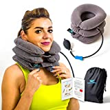 Cervical Neck Traction Device & Collar Brace, Inflatable & Adjustable Neck Support Pillow