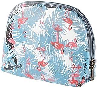 ポーチ 化粧ポーチ 透明 フラミンゴ ビニールポーチ コスメ かわいい おしゃれ 防水 小物入れ Lサイズ