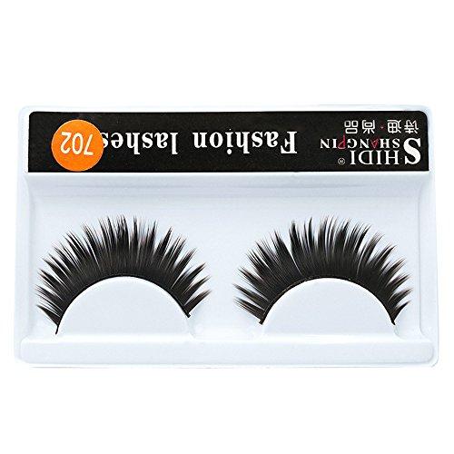 wyxhkj faux cils 1 paires de maquillage long croix épaisse faux 3D cils denses cils naturels (B)
