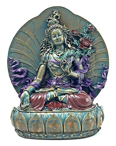 Bellaa 25327 Tara Statues Goddess of Compassion Longevity 6 inch