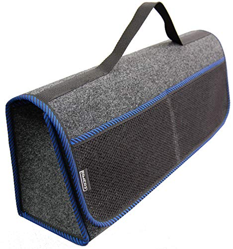 RIMERS Kofferraumtasche Blau Auto Tasche Zubehörtasche Car Boot Organiser Toolbag 50x16x21cm Klettverschluss