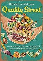 品質ストリートチョコレートヴィンテージ金属サイン