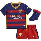 NIKE FC Barcelona Babykit Stadium 2015/2016 Equipación de fútbol, Niño, Azul/Rojo/Dorado (Loyal Blue/Stormred/University Gold), 12-18