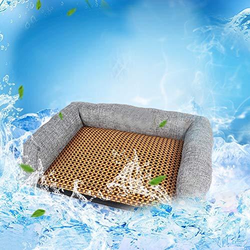LONG-C Estera De Refrigeración para Perros De Mimbre, Gatos, Colchoneta para Sofá, Mascotas, Colchoneta De Verano Casa Venta Al por Mayor,S