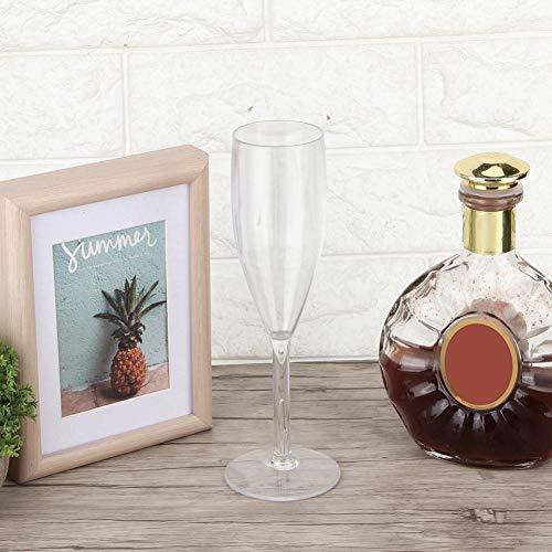 01 Tragen Sie Widerstand umweltfreundliches Acrylweinglas, langlebig für Restaurants für unterhaltsame Gäste Häuser Hochzeiten, Tänze, Partys und andere Anlässe(8857 No. 3 Cup)