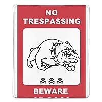 マウスパッド おしゃれ 高耐久性 滑り止め 防水 犬注意 PC ラップトップ 水洗い レーザー 光学式 18*22cm