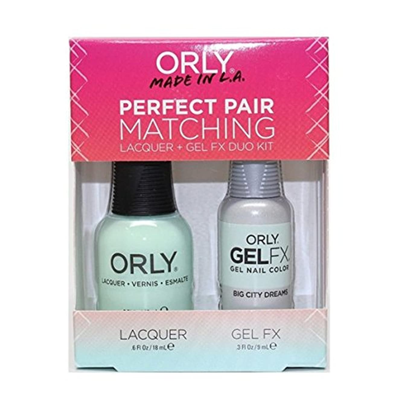 第九スタック肘掛け椅子Orly - Perfect Pair Matching Lacquer+Gel FX Kit - Big City Dreams - 0.6 oz / 0.3 oz