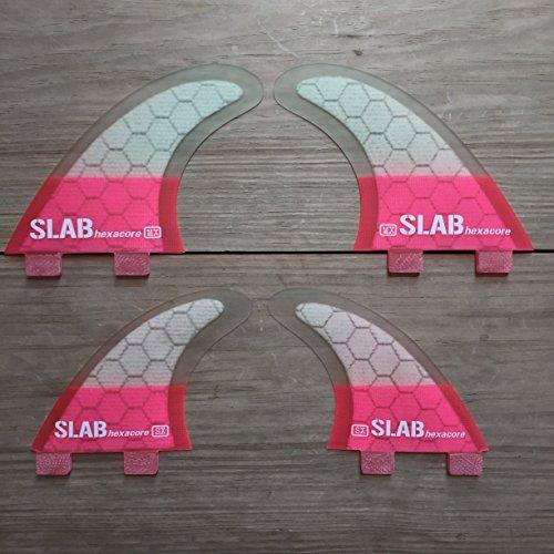 Slab-Surf Fins Quad hexacore Half Pink FCS