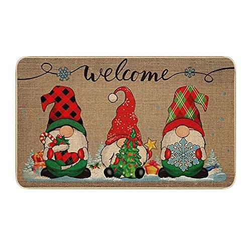 Paillasson de Noël Patchwork décoration de la Maison paillassons antidérapants intérieur/extérieur/Porte d'entrée/Salle de Bain Tapis d'entrée Tapis personnalisé Tapis de Sol Tapis