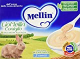 Mellin Liofilizzati per Bambini, al Gusto Coniglio - 3 Vasetti da 10 g...