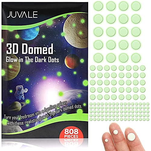 Self-Adhesive 3D Glow in The Dark Dot Wall Stickers (808 Pieces)
