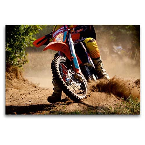CALVENDO Premium Textil-Leinwand 120 x 80 cm Quer-Format Heißer Reifen - Motocross, Leinwanddruck von Renate Bleicher