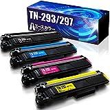 エースカラー ブラザー TN-293/297 4色セット(BK/C/M/Y) 大容量 互換トナーカートリッジ 《対応プリンター》MFC-L3770CDW HL-L3230CDW