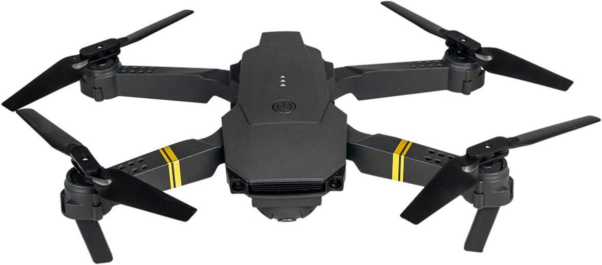 DERCLIVE E58 2. 4Ghz RC Drone WiFi FPV 1080P Cámara Drone Plegable con Bolsa de Transporte Negro