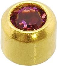 Caflon Blu 24 Carat Gold Plated February Mini Birthstone Studs